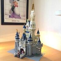 Лепин 71040 создатель Золушка Принцесса замок город 4080 шт. Модель Building Block детская игрушка в подарок Совместимость legoing 16008