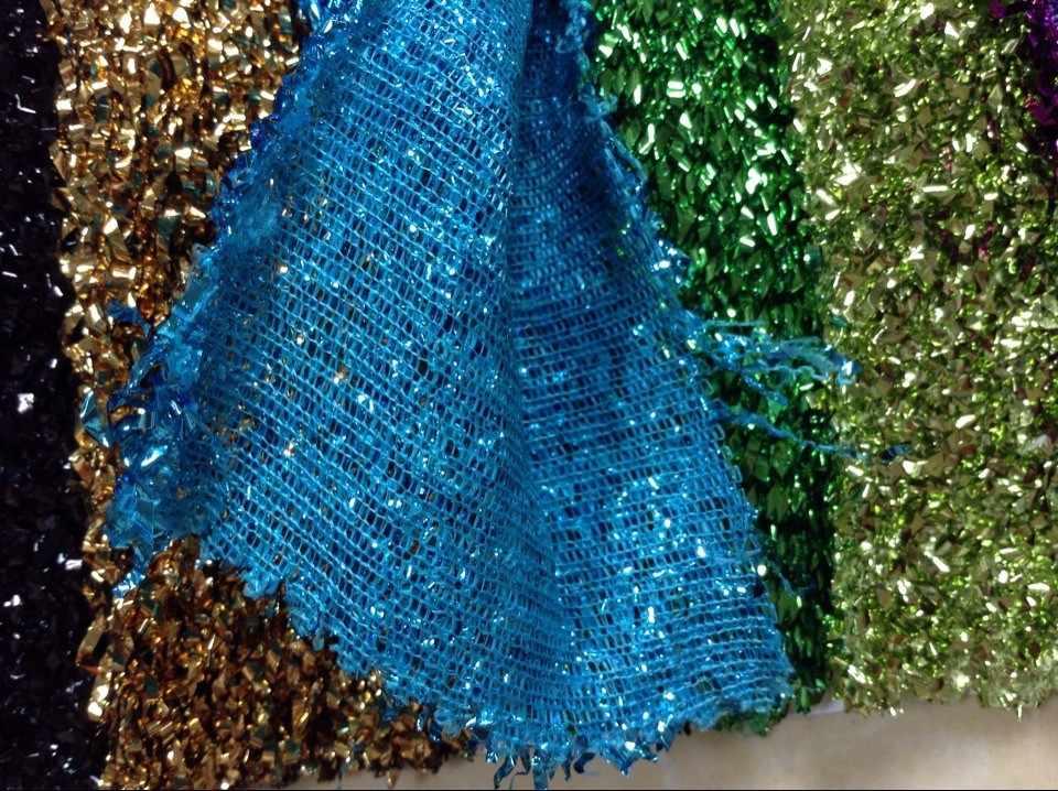 ファッション輝く毛深いスパンコール生地、ナイトボールドレスとステージ衣装ドレス生地、XERY04127