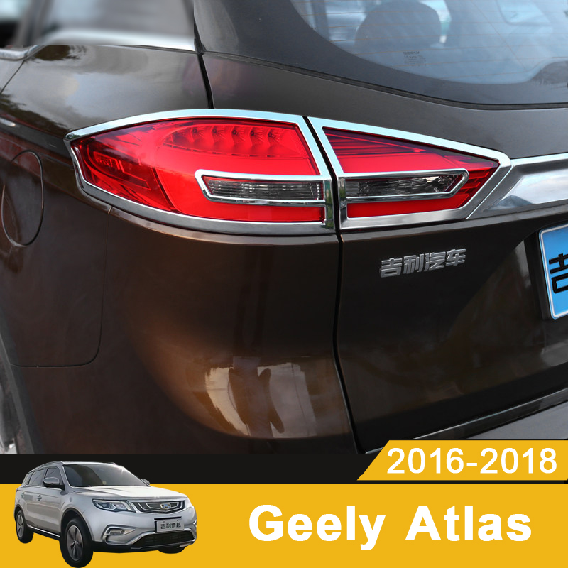For <font><b>Geely</b></font> <font><b>Atlas</b></font> Boyue Emgrand NL-3 Proton X70 2018 <font><b>2019</b></font> Car Rear headlight Lamp Covers Bumper Trim Frame Decorate Accessories image