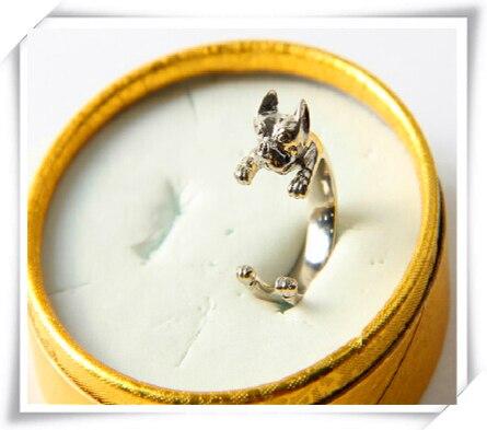 Купить кольцо в стиле ретро американский панк стаффордширский бултерьер