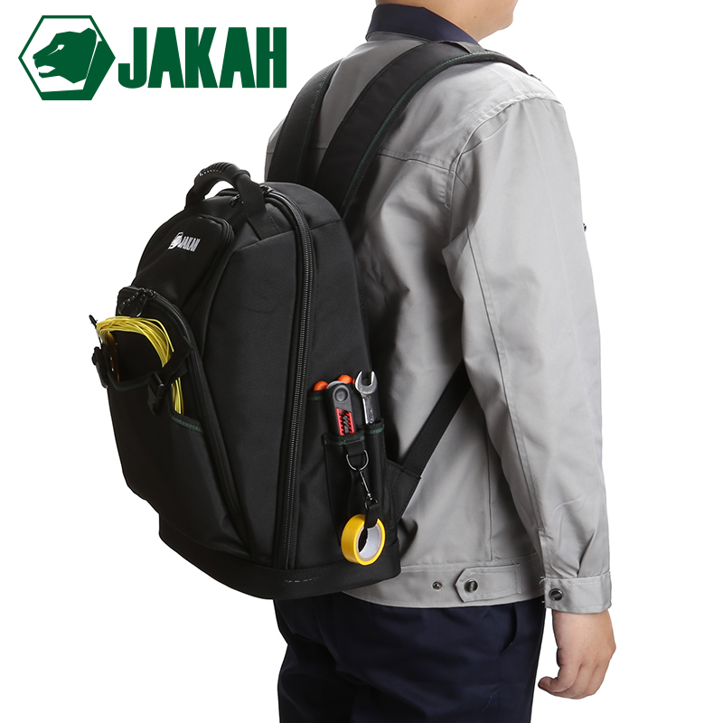 JAKAH New Tool Backpack Tradesman Organizer Bag Waterproof Tool Bags Multifunction Knapsack Free Shipping