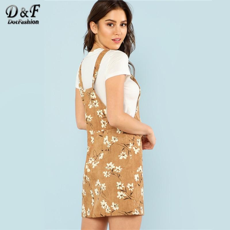 db74b385b2d Dotfashion Daisy Print Overall Dress – Purple Lotus Clothing