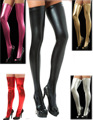 Hot sale Paint Leather Patchwork Stockings Sexy Lingerie Erotic Leather Hosiery Sexy socks Lady's Sock Clubwear Uniforms