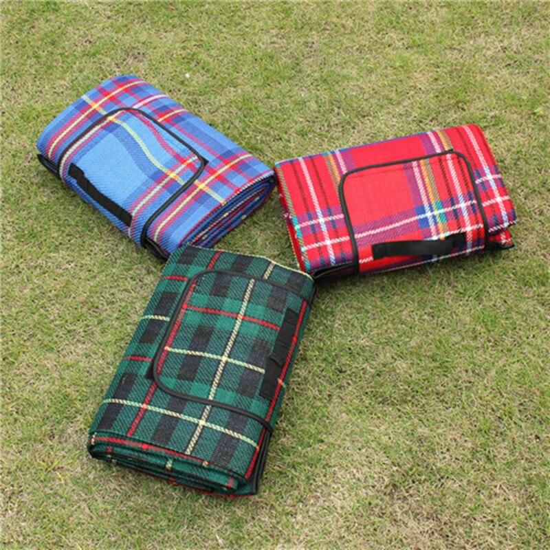 VILEAD 2 Size Folding Camping Mat Outdoor Beach Picnic Lightweig Waterproof Sleeping Camping Pad Mat Moistureproof Plaid Blanket