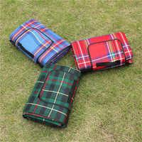 VILEAD 5 Size Outdoor Beach Picnic Folding Camping Mat Waterproof Sleeping Camping Pad Mat Moistureproof Plaid Blanket