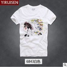 21 color summer AF Fitch mens Anjoy T-shirt short sleeve 100% cotton T-shirt Plus size clothing High quality street clothing(China)
