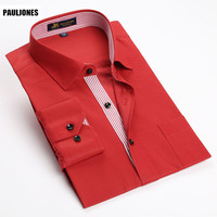 2015 New Fashion Designer Imported Clothing Men Social Formal Shirts With Long Sleeves Ropa Hombre Roupas
