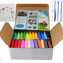Soft-Polymer-Modelling Clay Tools Special-Toys 24colors Playdough. Good-Package NEW