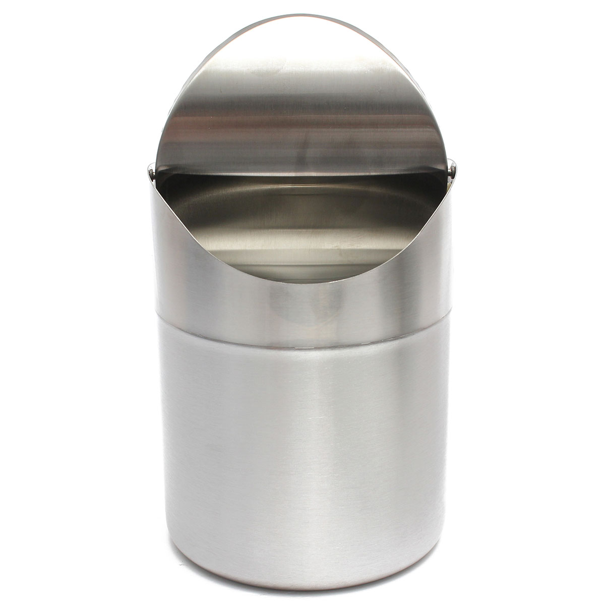 Aliexpress : Buy 15l Home Small Recycling Bin Swing Lid Kitchen Table  Tidy Stainless Steel Dustbin Trash Can Waste Rubbish From Reliable Steel  Camera