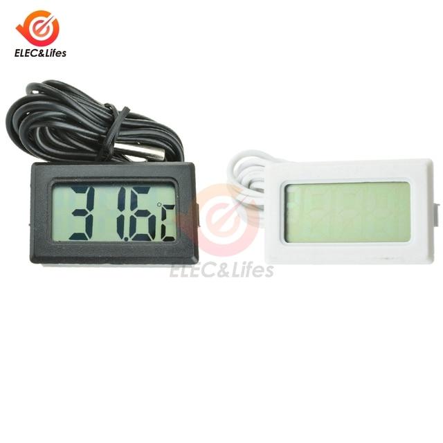 TPM-10 LCD Digital Thermometer Temperature Sensor Meter Weather Station Temperature Controller Thermostat Thermal Regulator 2M