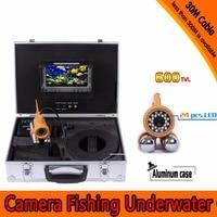 (1 conjunto) pesca submarina Camera HD 600 TVL CMOS 7 Polegada 30 m cabo Tela Colorida Sistema De câmara De Mergulho 24 IR Branco LEVOU Inventor Dos Peixes|600 tvl|camera systemfishing camera -