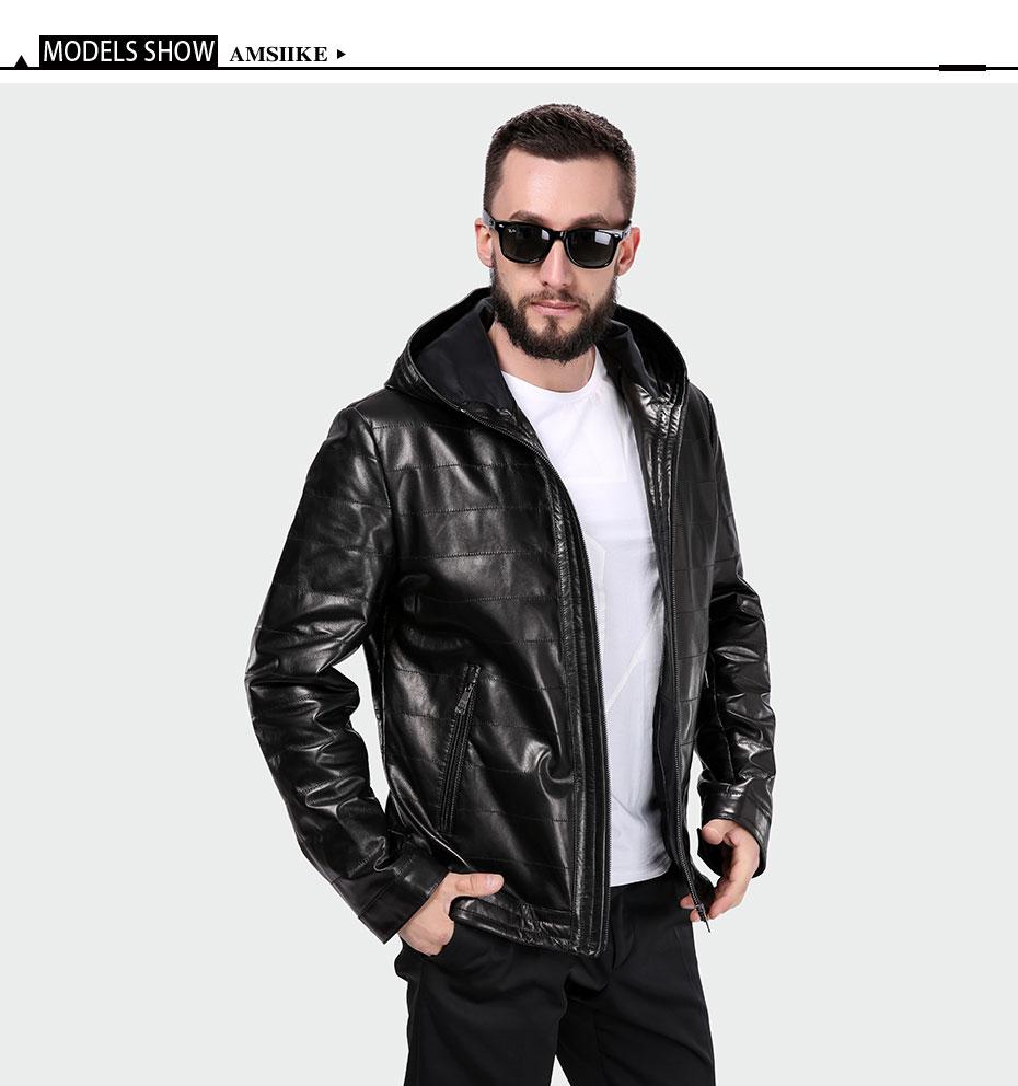 c3491ee8c20 ... Genuine Leather Jacket Men New style Sheepskin Chaqueta Black Casual  Plaid Hoodie Coat A16050 M-8XL. jacket-men 01 jacket-men 02 jacket-men 03  ...