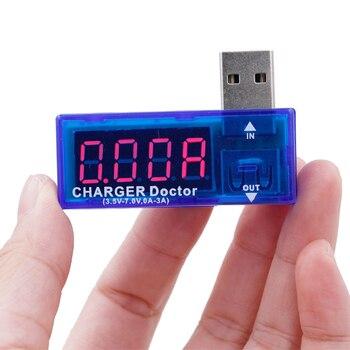 50pcs/lot Mini USB charger doctor voltmeter Digital USB Mobile Power charging current voltage Tester Meter 30%off