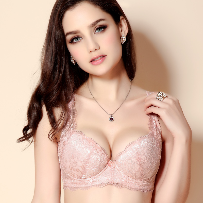 3f9f4e70dd11b Women s Plus Size Push Up Bras Comfortable Lace Thin Cup Size C D Cup 34D  36D 38D 40D 42D 44D red black pink beige m676-in Bras from Underwear    Sleepwears ...