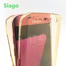 360 полной защиты Прозрачный чехол для Samsung S4 5 6 7 Edge S8 плюс Примечание 3 4 5 для Iphone 5 6 7 плюс Чехол Силиконовый гель Coque