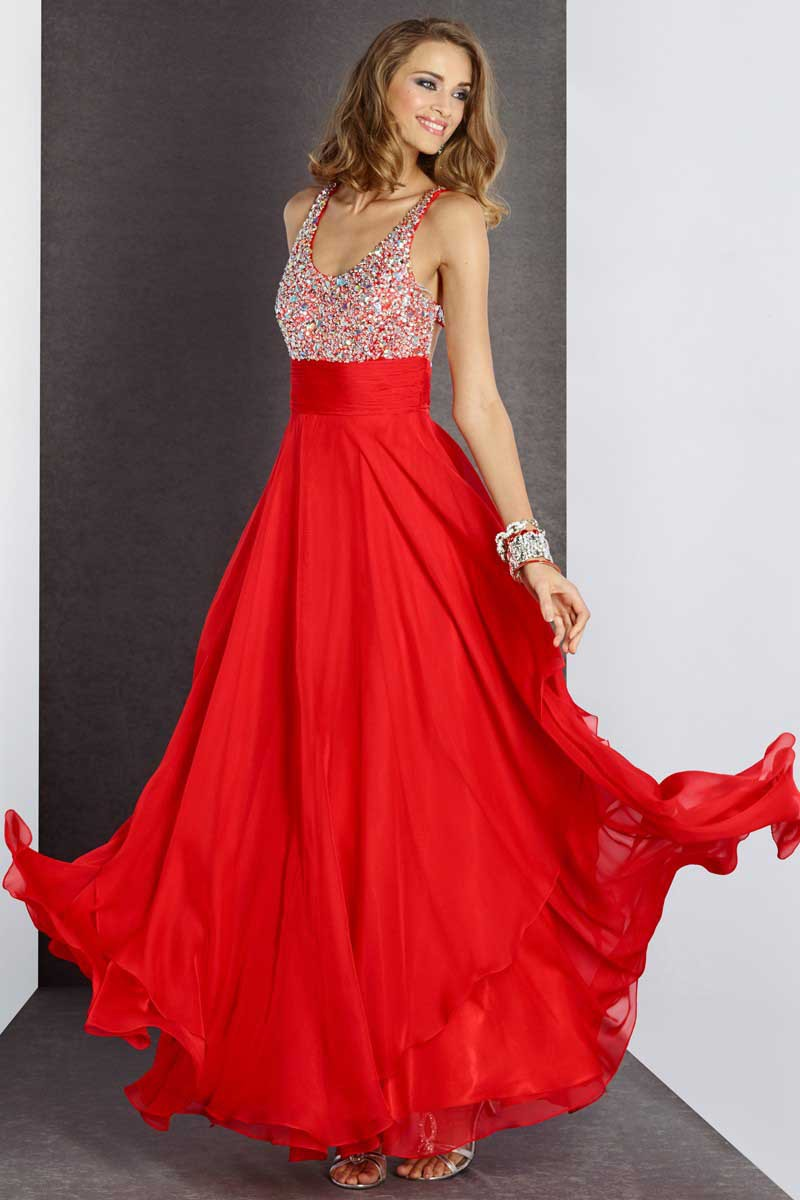Free Shipping A-Line V-Neck Long Red Prom Gown With Beading Cross Sleeveless Custom Made In China 2018   bridesmaid     dresses