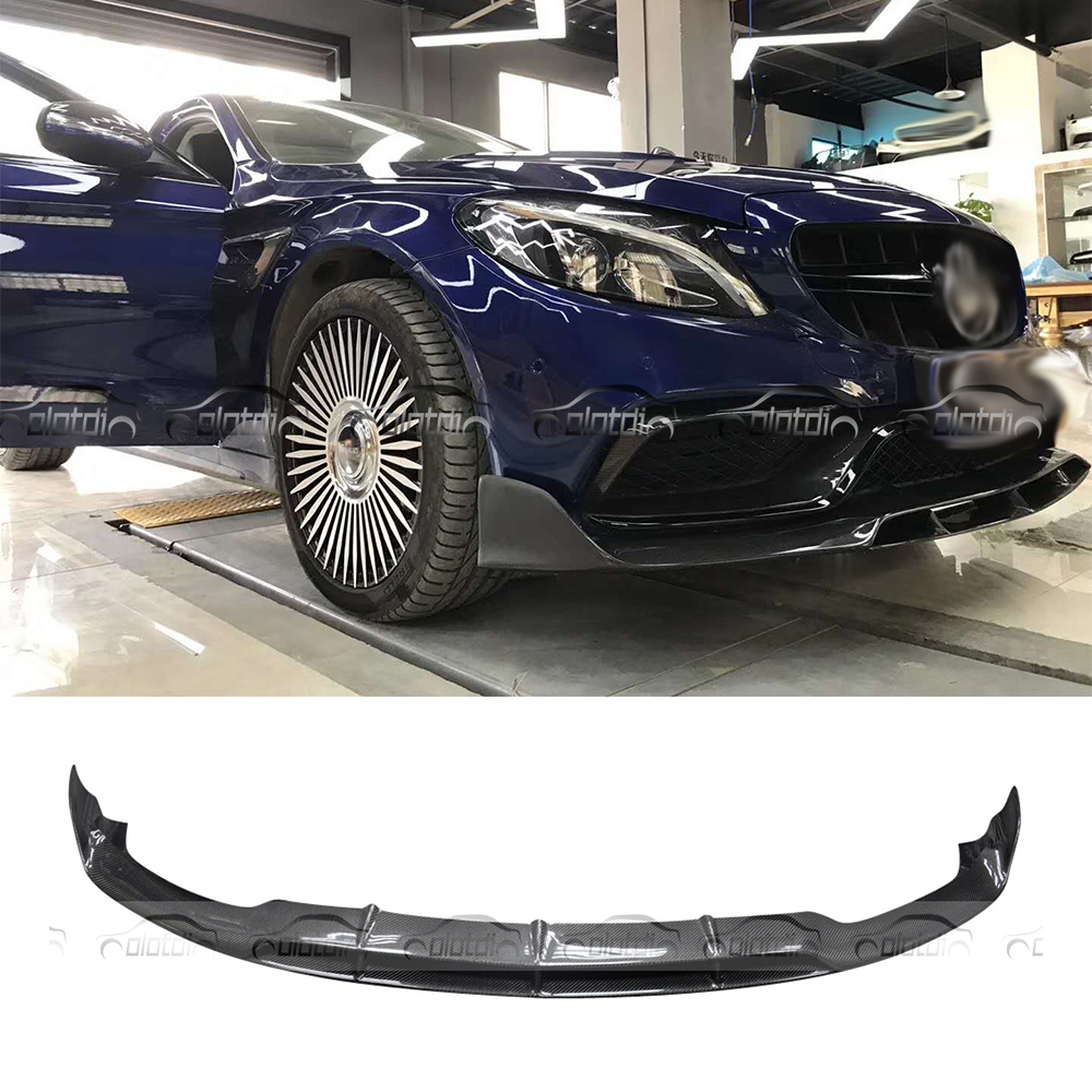 цена на For Mercedes Benz W205 Car Styling for AN Bumper BRABUS Style Carbon Fiber Front Lip