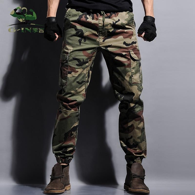 Hot!Casual Military Outdoors Emoji Jogger Men Pants Camo ...