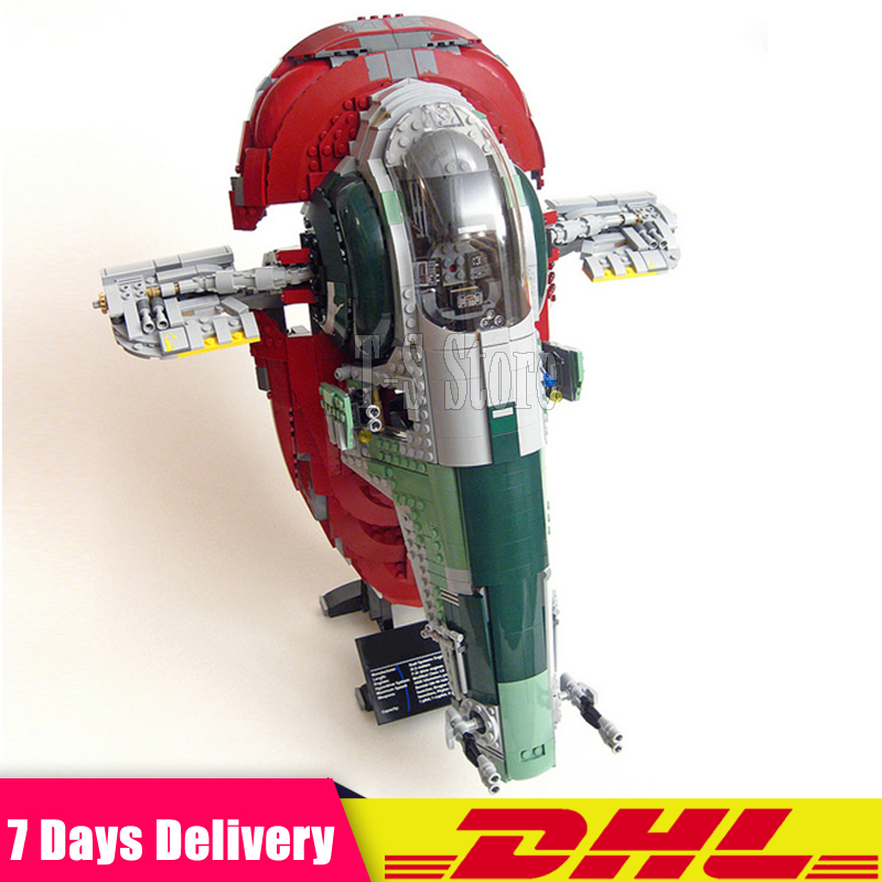 DHL LEPIN 05037 Star 2067pcs Series Wars UCS Slave I Slave NO.1 Model Building Block Bricks Toys Kits Gifts Compatible 75060 lepin 05037 star wars ucs slave i slave no 1 model 2067pcs minifigure building block toys 100