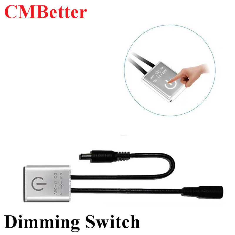 DC 12V 24V 3A DC i Touch LED on off brightness adjust Dimmer Touch Switch single color led strip controller Dimmer Switch bqlzr 4 mode on off touch dimmer switch xd 613b for glass body led lamp
