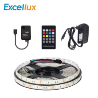 5M flexible IP65 Waterproof LED Strip Light LED RGB 5050 lamp+5 24V 20 keys Music RF Remote Controller+36W 12V 3A EU/US Adapter
