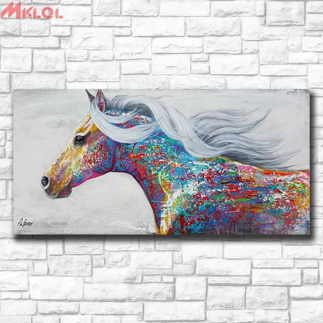 77b398aa899 Wxkoil Art Pop Art Painting Beautiful Running Horse Home Decor On Canvas  Modern Wall Art Canvas Print Poster Canvas Painting