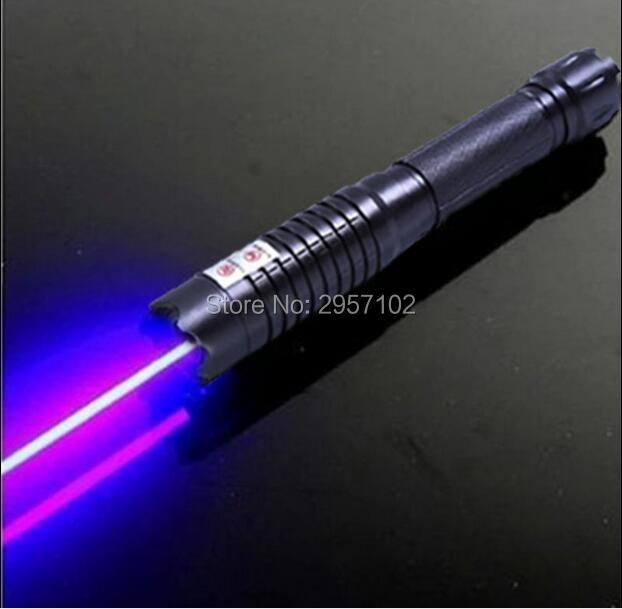 high power Military 450nm 50000m blue laser pointers light burning match dry wood/burn cigarettes+ 5 star caps+glasses+gift box
