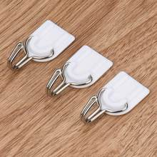 6pcs/lot Strong Curtain Holder Adhesive Hook Wall Door Sticky Hanger Holder Kitchen Bathroom White Strong sticky hook&17(China)
