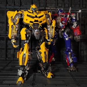Image 3 - WJ Transformation MPM 03 MPM03 MPM 03 film dabeille jaune surdimensionné 28CM Version alliage Collection figurine Robot jouets cadeaux