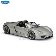 WELLY 1:18 Porsche Porsche 918 Spyder sports car  machine Simulation Alloy Car Model Collection toy tools стоимость