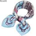 Real Silk Women Scarf 2016 New Arrival Fashion Geometric Professional Ladies Small Handkerchief 53x53cm Square Scarf Silk SC1703