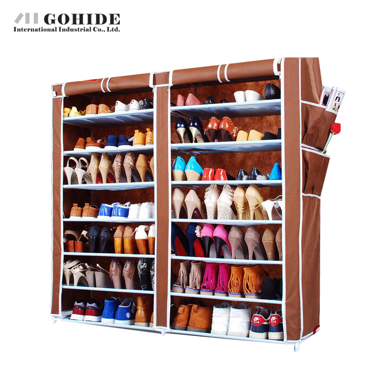 Фотография DUH Gohide Multi-Layer Receive Simple Shoe Non-Woven Shoe Living Room Furniture Shoes Shelf Storage Cabinet Shoe Racks