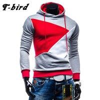 T Bird 2017 Brand Mens Cotton Casual Hoodies Male Hip Hop Hoodie Color Stitching Sweatshirt Suit
