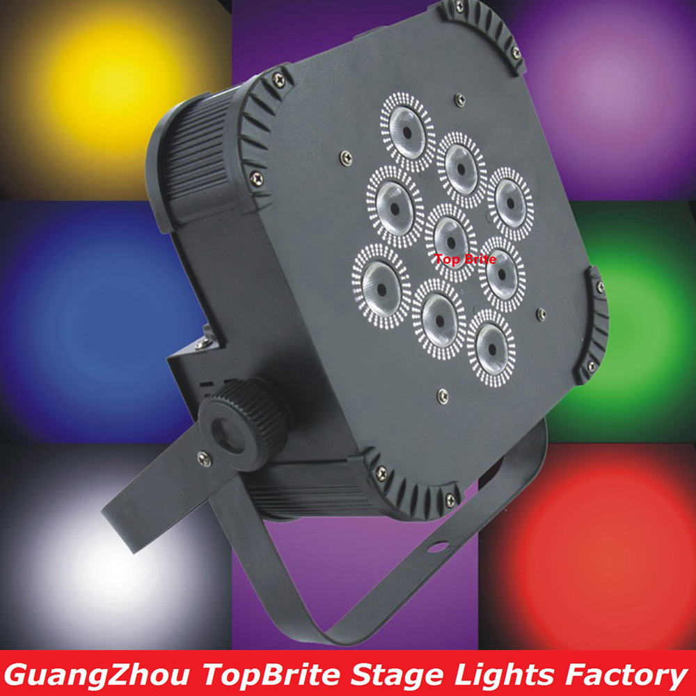 8XLot Best Price 135W LED Flat Par Light High Quality 9X15W LED Par Lights Iron Case With IR Remote For Professional Stage Shows
