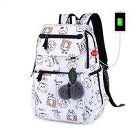 Marca de mochila para la escuela de niñas bolsas femenino lindo gato de espaldas bolsa mochilas para chicas adolescentes chica de año nuevo regalo de Navidad