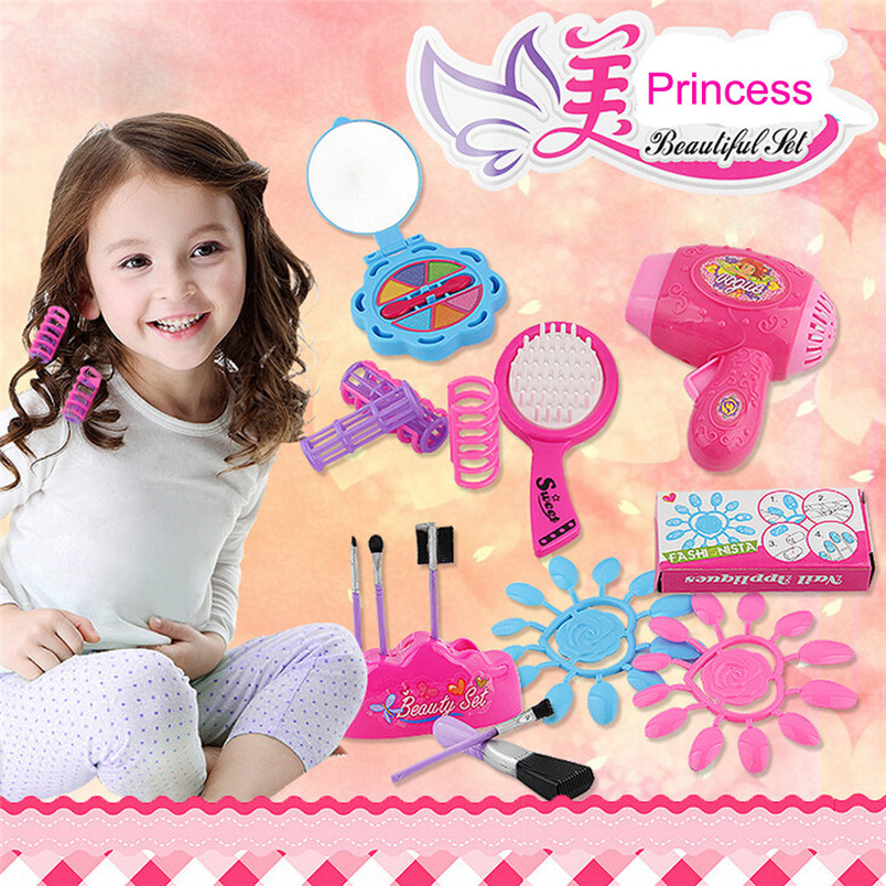 Furniture Dolls Childrens Cosmetics Kid Pretend Play Vanity Play Dresser Cosmetic Makeup Toy Kid Girl Fun Toy New Year GiftGU20