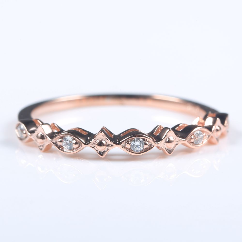 Solid 14k Rose Gold Natural Diamonds Elegant Women Engagement Ring Wedding Band Anniversary solid 14k white gold natural diamonds engagement wedding ring anniversary women band