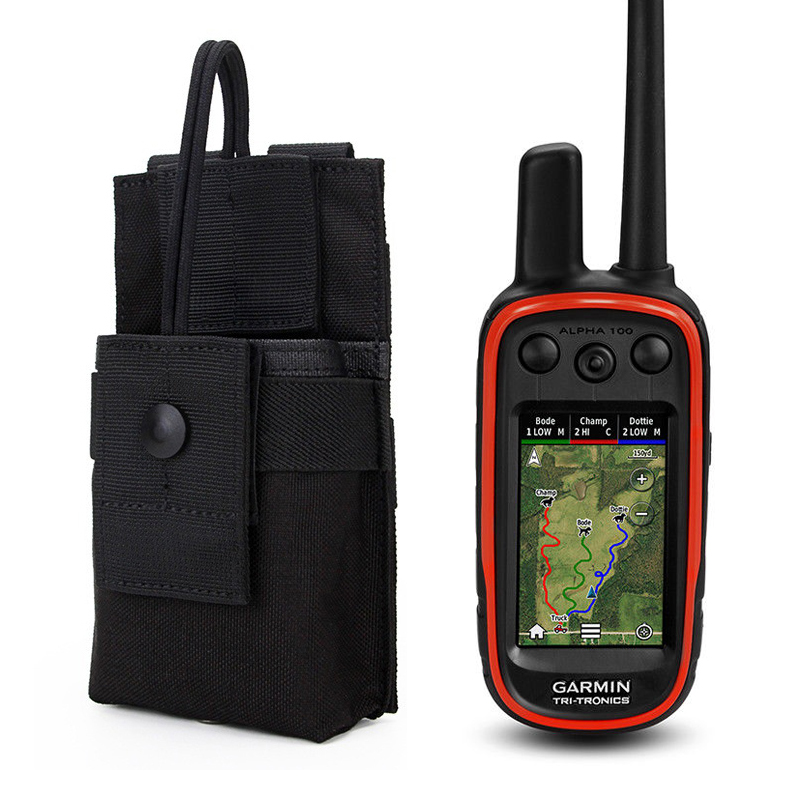 Outdoor Army Camo Portable Bag Protect Walkie Talkie Case for Hunting <font><b>GPS</b></font> Garmin Alpha <font><b>100</b></font> Astro 220 320 430 Accessories image