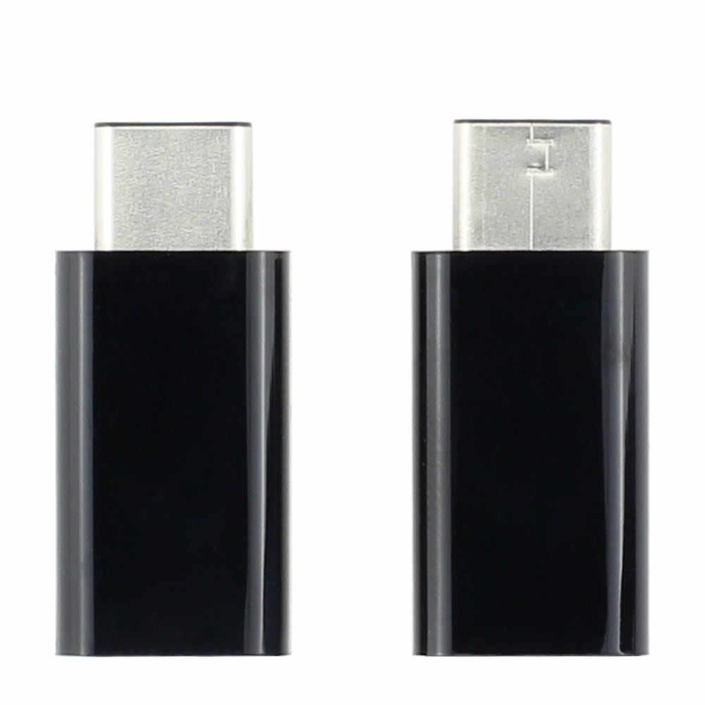USB 3.1 نوع-C الذكور إلى المصغّر usb الإناث تحويل USB-C محول نوع للقرص الهاتف المحمول الصلب محرك أقراص الطاقة شحن