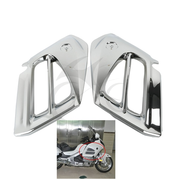 ABS Chrome Mid Front Covers Fairing For Honda GL1800 Goldwing 12-15 2013 14 for volvo xc60 abs chrome front