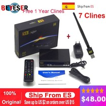 цены Freesat V8 Super Satellite TV Receiver DVB-S/S2 HD+USB WIFI Satellite Receptor+1 year Europe cccam Youtube,Youporn from Spain