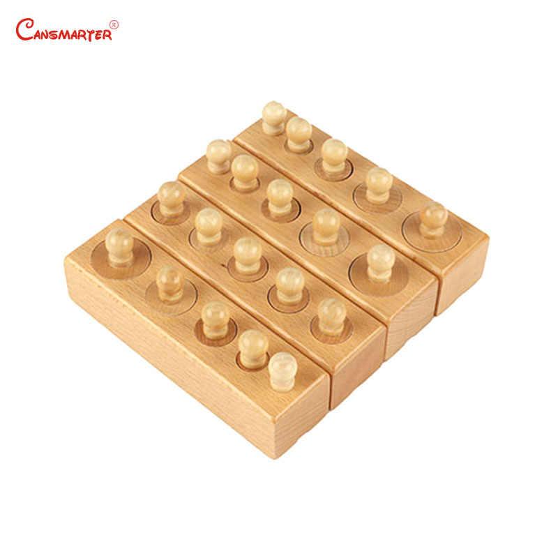 Cilindro Montessori Brinquedos Blocos de Cor Botão Sensoriall Jogo Desenvolver o Cérebro Da Criança Do Bebê Crianças Brinquedos de Madeira Educacionais SE002-JZ