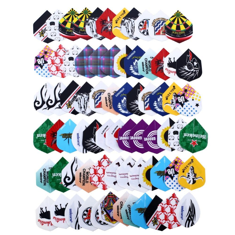 72pcs/24Set Professional 2D Cool Bling Dart Flights Darts Tail Outdoor Sports Tail Harrows Throwing Toy Outdoor Wing Tail criss cross plunge neckline leopard cami bodysuit