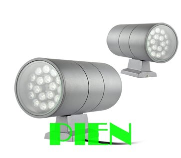 Up down outdoor wall light 36W Waterproof Cylinder Garden Yard Modern Lamp 85V-265V Aluminum Silver/Grey CE&ROHS by DHL 8pcs/lot 12v 50w colored rgb outdoor lights 110v wall projector flood light garden waterproof landscape lamp remote control by dhl 6pcs