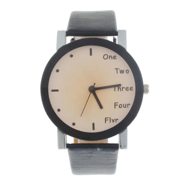 2016 Hour Leisure Clock Letters Number Print Watches Women Ladies Watch Quartz Wristwatches Relogio Feminino Saat New Year Gift