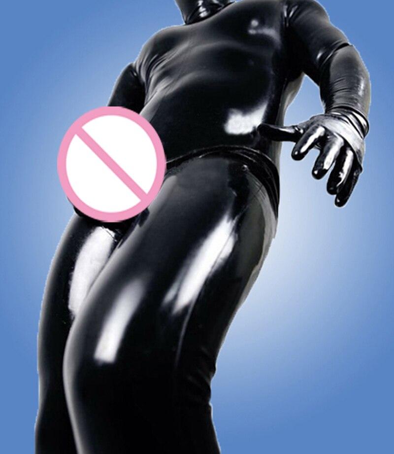 Homme Pleine Couverture Latex avec Capuche et pénis préservatif et chaussettes et gants grande taille