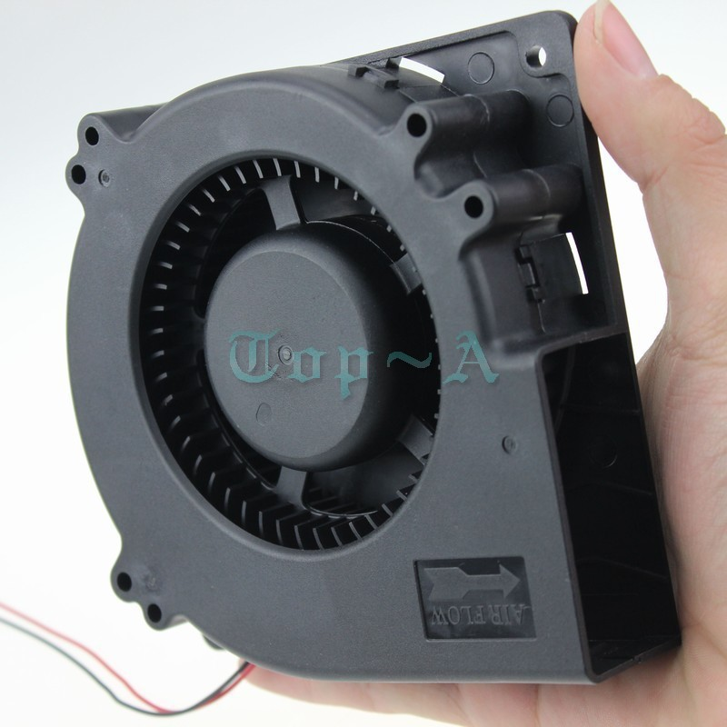 Gdstime 5 Pieces 24 Volt 5 inch 120x120x32mm Blower Fan 120mm x 32mm DC 2 Pin