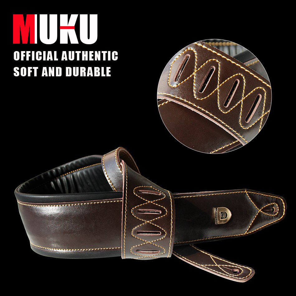 "Dark Brown Leather Double Padded 100% handgemaakte guita basgitaar basband vervaardigd Super Wide 3.5 """