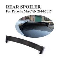 Carbon Fiber Car Rear Roof Spoiler Window Wings For Porsche Macan 2014 2016 4 Door Car styling