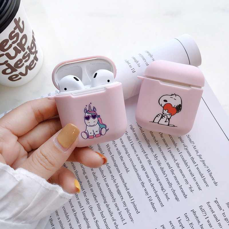 For Airpods2 Case Silicone Soft TPU Case For Airpods Dust Guard Cover For Apple Air Pods Cute Cartoon Protection Headphone Etui